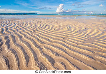 Low tide at beach, Philippines