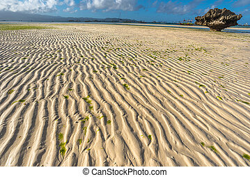 Low tide at Boracay island White Beach of Philippines