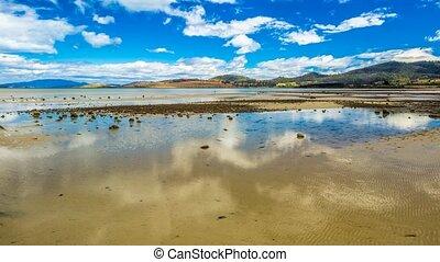 Low tide at Dunalley Bay Tasmania - Spectacular low tide at...