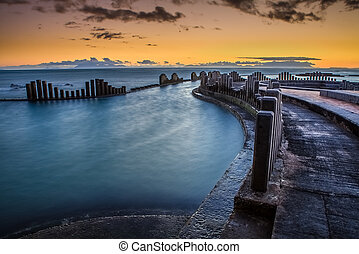 Low Tide at Dusk - Low tide at the Strand tidal pool...