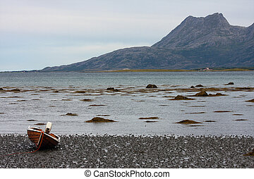 low-tide at  fjord, norway