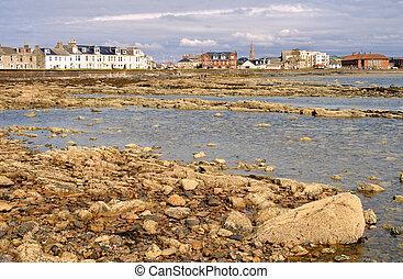 Low tide in Troon, Scotland
