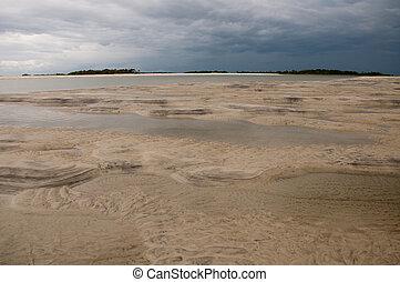 Low Tide - Low tide on Tybee Island, Georgia.