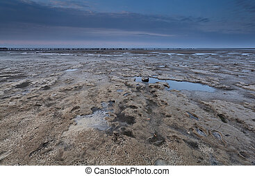 low tide on North sea