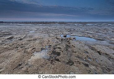 low tide on North sea