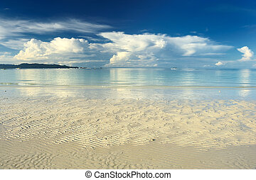 Low tide at Boracay beach, Philippines
