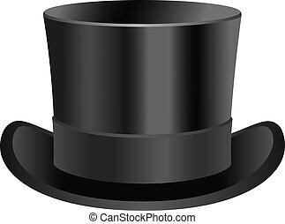 Vintage low top hat illustration.