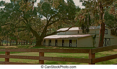Lowcountry Stable - A photograph of a horse stable in the ...