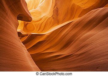 Lower Antelope Canyon located near Page Arizona on the ...