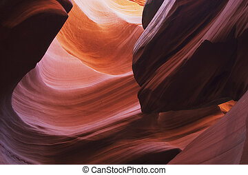 Sandstone patterns in Lower Antelope Slot Canyon, Page, Arizona.