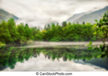 Lower Blue Lake Blur defocus abstract background
