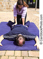 Lower body Thai massage - Lower body massage as part of a ...