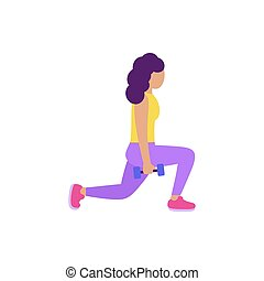 lower body workout - Illustration of young woman performing ...