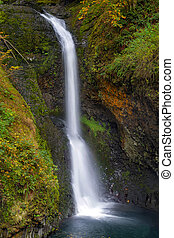 Lower Butte Creek Falls in Fall Season