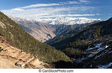 Lower Dolpo - landscape scenery around Dunai, Juphal...