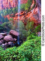Lower Emerald Pool Waterfall Utah