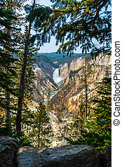Lower Falls from Artist's Point in Yellowstone National Park