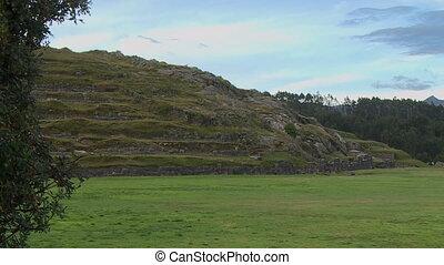 Lower Ground Of Incan Ruins, Andes, Peru - Medium still...