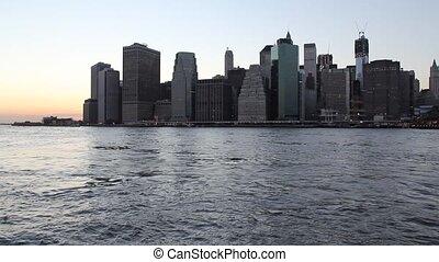 Lower Manhattan az sunset (NYC, USA)
