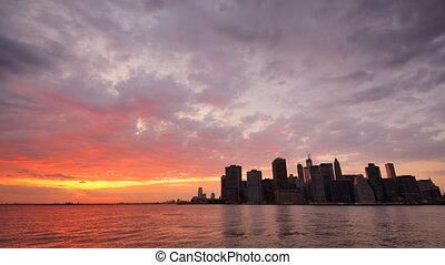 Lower Manhattan Financial District in New York City