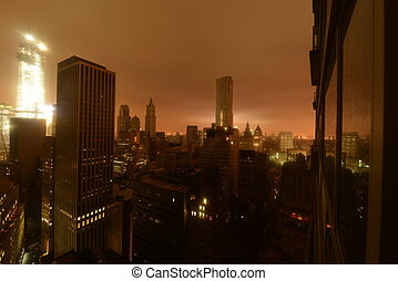 Lower Manhattan following Power Outage as a result of ...