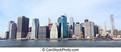 Lower Manhattan - New York City Manhattan skyline panorama
