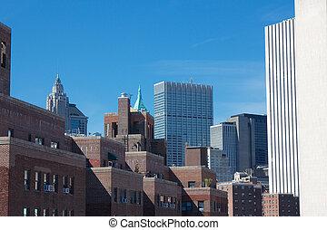 Lower Manhattan Roofs