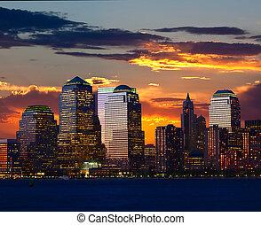 Lower Manhattan Skylines in New York City