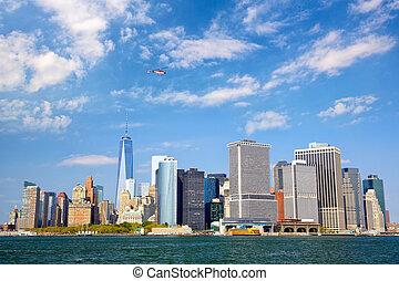 Lower Manhattan urban skyscrapers, New York City