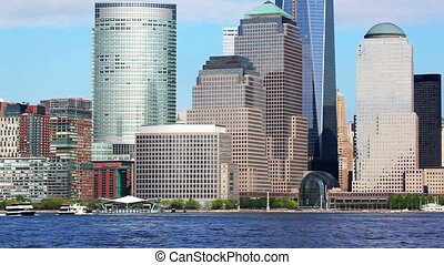 Lower Manhattan - World Financial Center and Lower Manhattan...