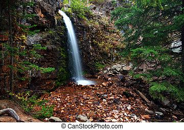 Lower Memorial Falls in Montana