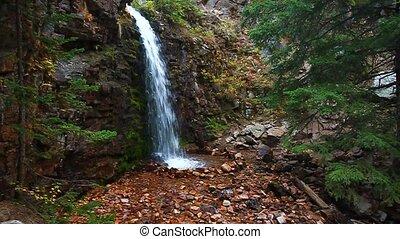 Lower Memorial Falls in Montana - Lower Memorial Falls in...
