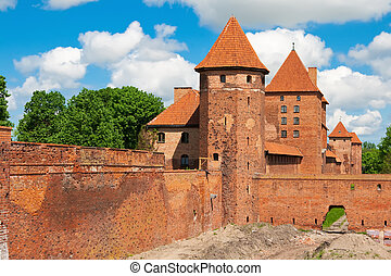 Lower park of the castle of Malbork