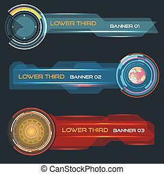 Lower third banners - Set of vector lower third modern...