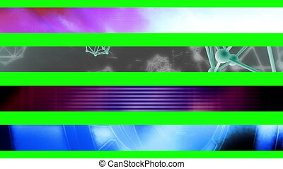 Lower third eighteen GBS - Abstract looping Lower Thirds,...