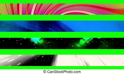 Lower third fifteen GBS - Abstract looping Lower Thirds, use...