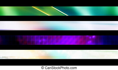 Lower Third Set Nineteen - Four Looping Abstract Lower Third...