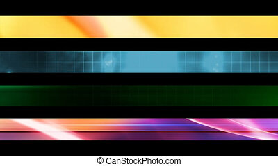 Lower Third Set Three - Four Looping Abstract Lower Third...