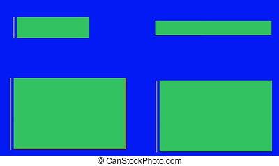 lower thirds green screen blue screen