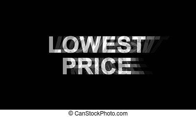 Lowest Price Glitch Effect Text Digital TV Distortion 4K...