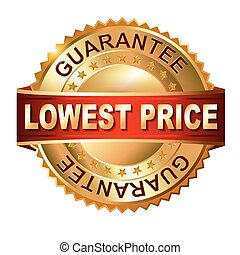 Lowest Price golden label with ribb