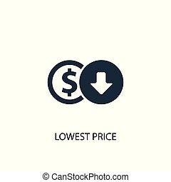 lowest price icon. Simple element illustration. lowest price concept symbol design. Can be used for web