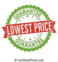 Lowest price sign or stamp