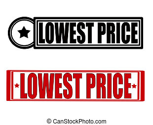 Lowest price - Stamp with text lowest price inside, vector...