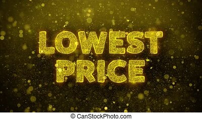 Lowest Price Text on Golden Glitter Shine Particles...