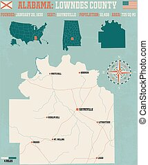 Lowndes County in Alabama USA