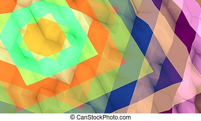 Lowpoly Background with Colorful Squares