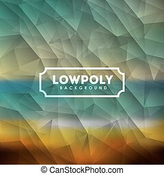 Lowpoly design over colorful background, vector illustration...