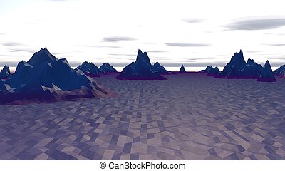 Lowpoly Landscape with North Polar Hills