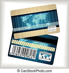 Loyalty card with striped and scribbled map - Loyalty card ...